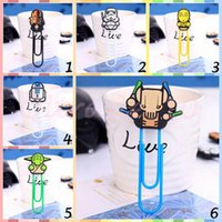Wholesale 50pcs LJJC2879 New Arrival Cartoon Star Wars Silicone Paper Clip Black Knight Darth Vader Yoda Bookmarks Decorative Filling Paper Clip