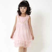 Girls chiffon dress wholesale fashion teenage beach sundress kids baby