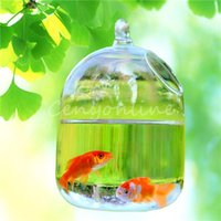 aquarium bamboo - 1pc Hanging Glass Vase Aquarium Suitable for Cultivation of Hydroponic Plant Breeding Type of Small Fish x10cm