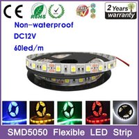 Wholesale 5 Meters LED strip SMD DC V flexible light LED m m LED NO Waterproof NSL5050