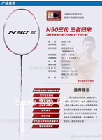 Wholesale Best price Lining badminton racket n90 iii racquet de badminton with string strung li ning badminton overgrip li ning rackets A5 A5