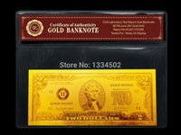 Wholesale Gold dollar Gold Banknote with Wallet and Certificate