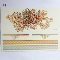 Wholesale Paper Waterproof Temporary Tattoos Sticker Body Art Gilding Jewelry Inspired Mixed Pattern cm x cm Sheets new