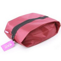hand compression bag - 10 Freeshipping New Travel Hand Shoes Zip Bag Tote Waterproof Nylon Tote Storage Bag