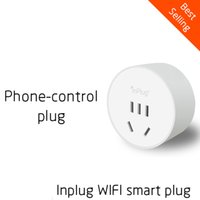 Wholesale Inplug wireless wifi smart plug home socket remote control by mobile phone the smallest socket