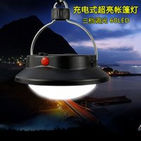 Wholesale 2016 Three Adjustable Light led Night Market Stall Tent Camping Lamp Outdoor Lights Super Bright Rechargeable Emergency Lig