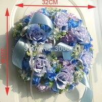 artificial christmas wreath - 6 Colors quot Artificial Silk Roses Christmas Door Wreath High Quality Christmas Decoration Supplies