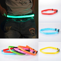 bicycle automatic - LED Flashing Waistband Adjustable Reflective Belt Flashing Light Portable Waistband Bicycle Jogging Running