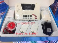 Wholesale NEW GSM Alarm System smart home Burglar Security Detector Sensor mobile phone call GSM alarm system GSM alarms