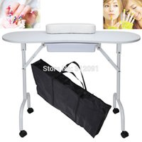 manicure table - US STOCK USA Local Postage Brand New White Foldable Portable Manicure Nail Art Table Pull Out Drawer