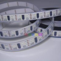 Venta al por mayor 50m 10x5M 60 LEDs / m LPD8806 Píxeles Flexible LED Strip Light 1 IC - 2 chips 5050 RGB SMD impermeable IP67 PCB blanco DC5V