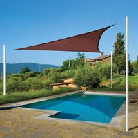 backyard patios - Brand Custom Shade Sails HDPE UV Protection Backyard Size M M M Shade Sails Outdoor Breathable Triangle Fabric Patio Covers