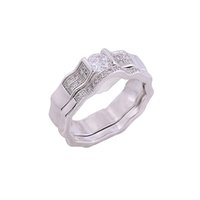 Wholesale 2015 Fashion Crystal Couple Rings Platinum Plated Engagement Rings Fashion Silver Jewellery Hot Selling Couple Rings