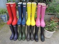 wellies - 2015 Hunter Matt Boots Free Waterproof Women Wellies Boots Woman Rain Snow Boots High Boot Rainboots