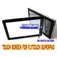 Wholesale Original Touch Screen Panel Digitizer Glass Replacement For quot Flytouch Superpad VII VIII Allwinner A10 GPS Tablet Film