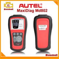 al por mayor autel md802-Autel Maxidiag MD802 Elite escanear toolMD 802 escáner lector de código de TODOS los sistemas DS + herramienta de diagnóstico EPB + MCO