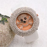 designer watches - Elegant Leather Watches For Students Skulls Design Rhinestone Watches Different Colors Can Choose Designer Watches e066