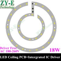ac led driver ic - 20pc W AC V led pcb Plate smd ceiling lamp panel Epistar Chip with integrated IC Driver led pcb for ceiling light free