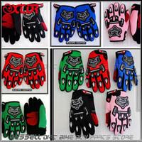 Wholesale Racing gloves for YOUTH PEEWEE kids motorcycle Bicycle Dirt Pit Bike Poceket bike Motorbike ATV QUAD