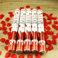 Wholesale Factory Handheld Fireworks Tube Rose Petals Salute Wedding Party Protocol Flowers Ribbon cutting Ceremony Festive Married Supplies