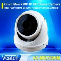 indoor mini dome ip camera - Vcatch ONVIF P MP Mini Security Outdoor Indoor Waterproof IP HD Aluminum Case IR Night Vision CCTV Dome Camera Free Power Supply