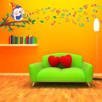 animal attachment - Attachment removable wall stickers cartoon birds singing children s bedroom wall stickers baby room sticker