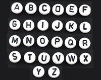 Wholesale New x520 Mixed Acrylic Alphabet quot A Z quot Round Spacer Beads mm