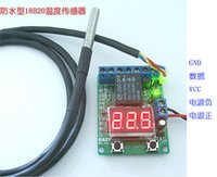 Wholesale Waterproof DS18B20 temperature probe voltage relay thermostat smart thermostat timer switch