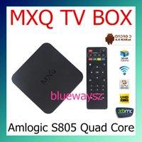 mini tv - Original MXQ TV BOX Amlogic S805 Mini PC Quad Core Android Kitkat K HDMI H GB GB XBMC WIFI Airplay Miracast D DHL Free
