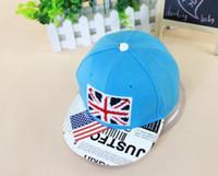 ball jacks - New Style Brand Desinger Children Fashion Hats Kids Hiphop Snapback Cap Union Jack Pattern Mix Colors