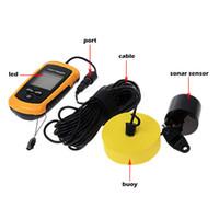 Wholesale Portable Wireless Sonar Fish Finder Depth Underwater Fishing Camera Sounder Alarm Transducer Fishfinder m