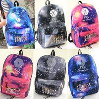 pocket books - 2015 Women printing backpack Galaxy Stars EXO Korean School Book Campus student Backpack korean bags