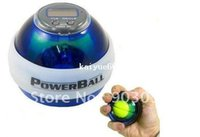 Wholesale 2013 Hot Sale Power Ball Gyroscope LED Wrist Strengthener Ball Speed Meter Counter Spin Ball with led counter