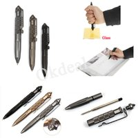 Wholesale Tactical Pen Self Defense Cooyoo Tool Aviation Aluminum Anti skid Portable Tool With Black Clips metal Pen