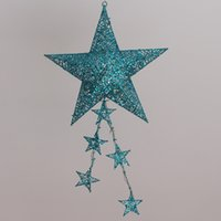 Wholesale Starlight Heart Into Ceiling Hanging Christmas Decoration Items cm Pendant With Big Stars Twinkle Lights