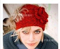 Cheap HOT SALE Women knitted headband with flower,crochet hair headband- Handmade hair accessories Mixed