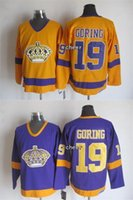 best gore - 2015 Newest Men s Los Angeles Kings Goring Orange Purple Throwback Ice Hockey Jerseys Best Quality Low Price