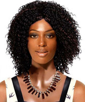 Cheap Black Brown synthetic lace front wig Best Curly Synthetic hair short wigs for black women