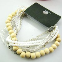 Cheap 7 in 1 wood bead bracelet,new arrival jewelry.Min order 12 items mixed. 3.18386. Free shipping