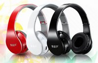 Wholesale 2014 BT New Wireless Headphone Headsets Noise cancelling Bluetooth DJ Headphones High Performance With BOX Sealed Built in microphone