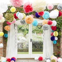 ball runners - Tissue Paper Pom Flowers Hot Sale Blooms Flower Balls Wedding Party Home Celebrity Decorations inches Min