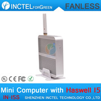 best architectures - Drop shipping best quality fanless mini pc i5 ntel Core i5 U Ghz Haswell Architecture All SOC Design