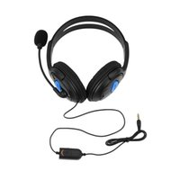 Wholesale 1pcs Wired Gaming Headset Headphones with Microphone for Sony PS4 for PlayStation