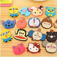 key caps - Big discount Various Cute Animals Silicon Key Caps Covers Keys Keychain Case Shell Novelty Item Key Accessories Car Keychain