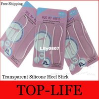 Wholesale 600Pairs Transparent Silicone Heel Stick After Heel Post Upset Half Yards Pad Grinding Foot Wear Bubble Sizes High Heels Paste
