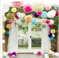 Wholesale Tissue Paper Pom Poms wedding decoration Paper Flowers Ball New Year Decorations And Birthday Decoration party decoration
