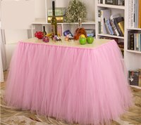 Wholesale Tulle Table Skirt Children Birthday Party Baby ShowerTable Decoration for Cake Table