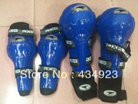 axo racing - Moto racing protective gear Axo flanchard joint axo4 piece set motorcycle kneepad knee Elbow pads blue color
