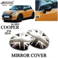 car mirror flag cover - CAR DECORATIONS MIRROR COVER FOR MINI COOPER F56 Grey British flag