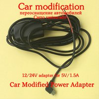Wholesale Hot professional car DVR modifiy power adapter DC V V V to DC V A Switch Switching Power Supply Converter Adapters free ship